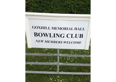 Goxhill Memorial Hall Bowling Club Sign